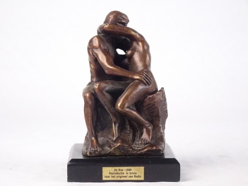 De Kus 1889 reproductie in brons naar het origineel van Rodin.