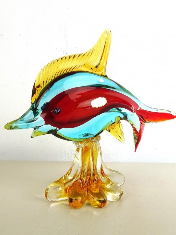 Glazen vis op voet (MURANO)