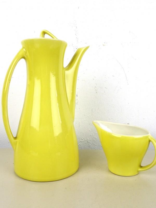 Vintage aardewerk koffie- en melkpot (BOCH)