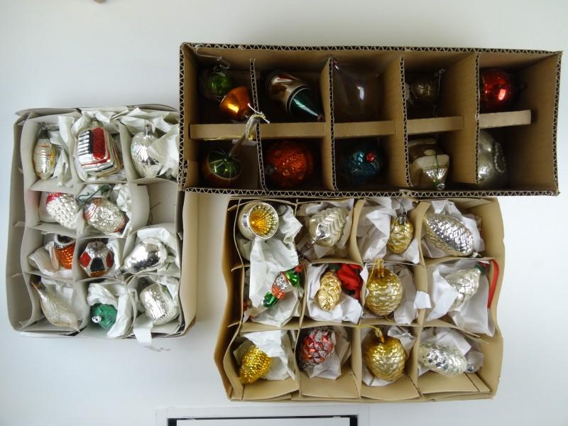 Oude Kerstballen - set 2