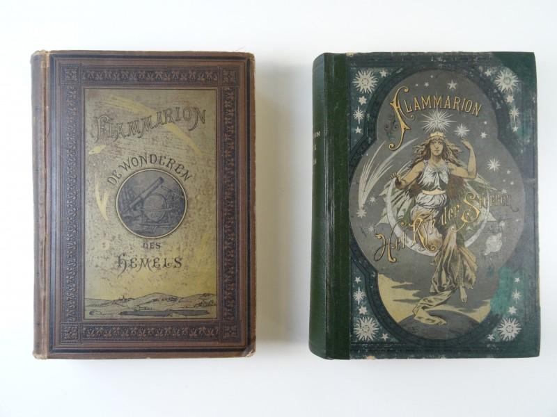 """Camille Flammarion: """"Het ryk der sterren"""" en """"De wonderen des hemels"""" ca 1920"""