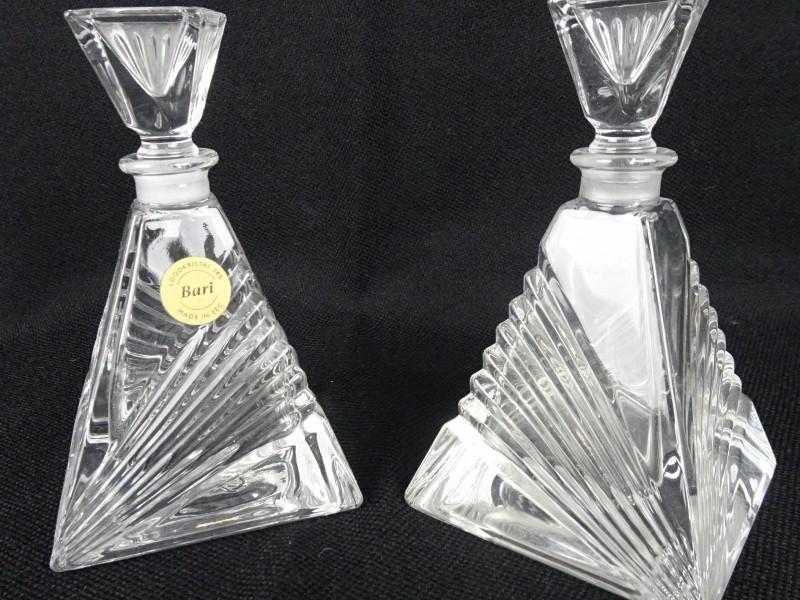 2 Kristallen flesjes
