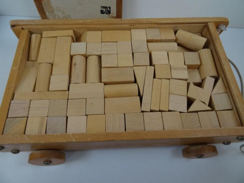 Zorka houten blokkenkar ongeveer 1960 - 1970