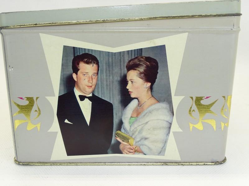 Blikken doos, geboorte Prins Philippe, 1960, Gulden Sporen