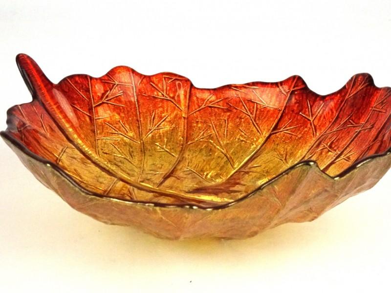 Glazen schaal (Bladvorm)