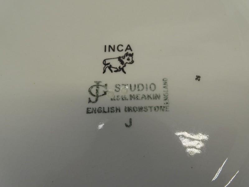 11 Borden met Inca Patroon, J & G Meakin Studio, 1971