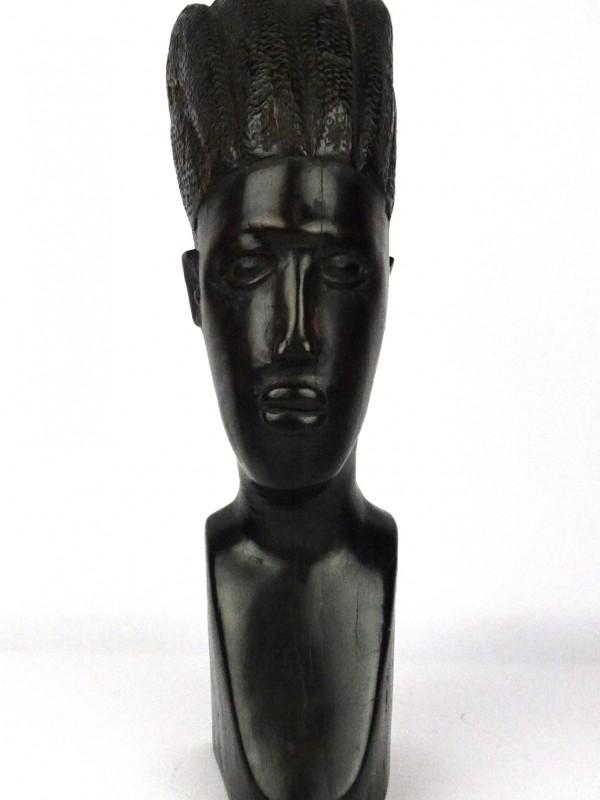 Houten Afrikaanse buste