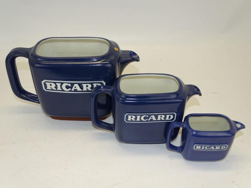 Ricard, 3 delige Karaffen Set, Aardewerk