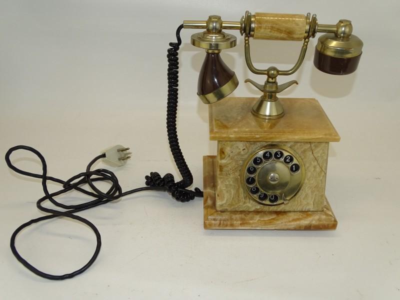 Retro Vaste Telefoon, Onyx, Bladgoud