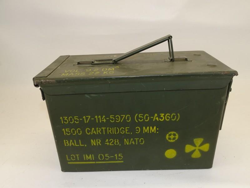 Munitie Koffer, 1500 Cartridge, 9MM, NATO