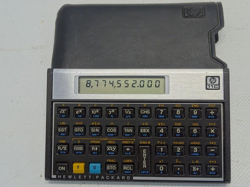 Wetenschappelijke Rekenmachine, Vintage HP-11C, 1981