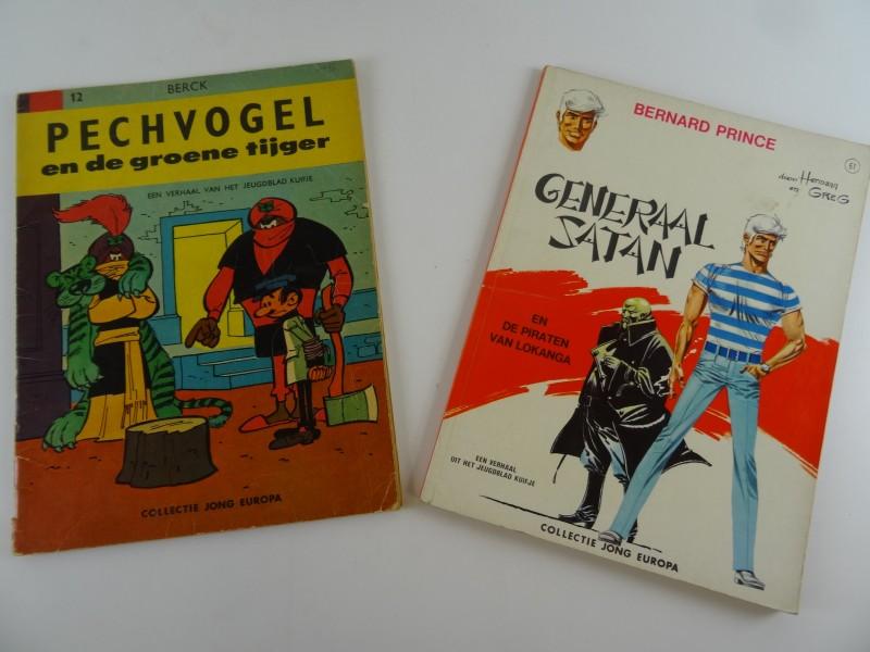 2 x Nederlandstalige strips uit het weekblad Kuifje jaren '60