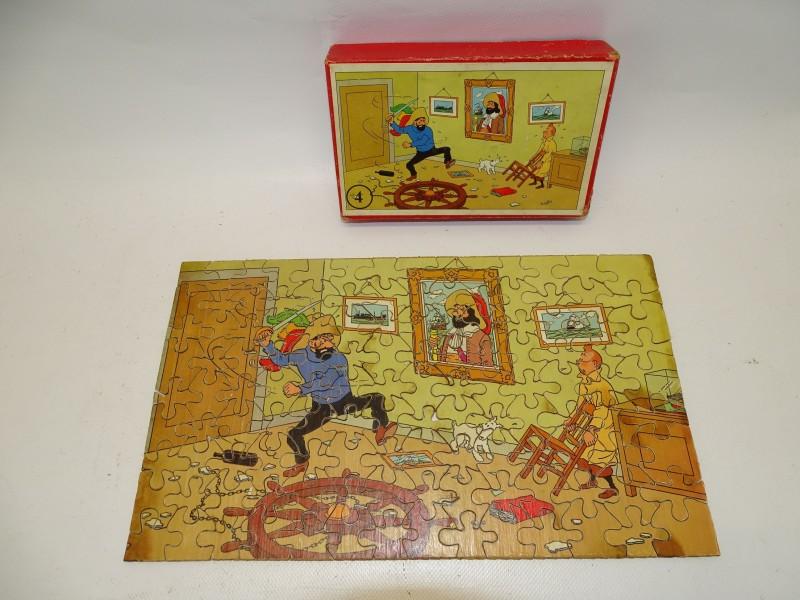 Houten Puzzel Kuifje, Het Geheim Van De Eenhoorn, Jaren 40/50