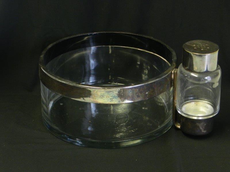 Christofle Fleuron slakom met potje voor kruiden in glas