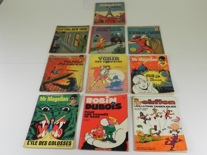 10 Franstalige stripalbums uit het weekblad Tintin jaren '60 '70