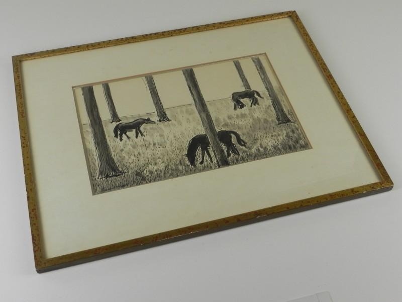 Gestileerde vormgeving paarden - Pierre Devos