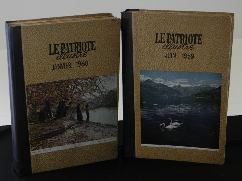"2 bundelingen ""Le Patriote Illustré van 1959 en 1960"