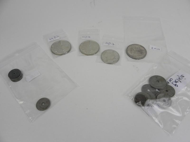 Lot Belgische verzamelmunten o.a. zilveren