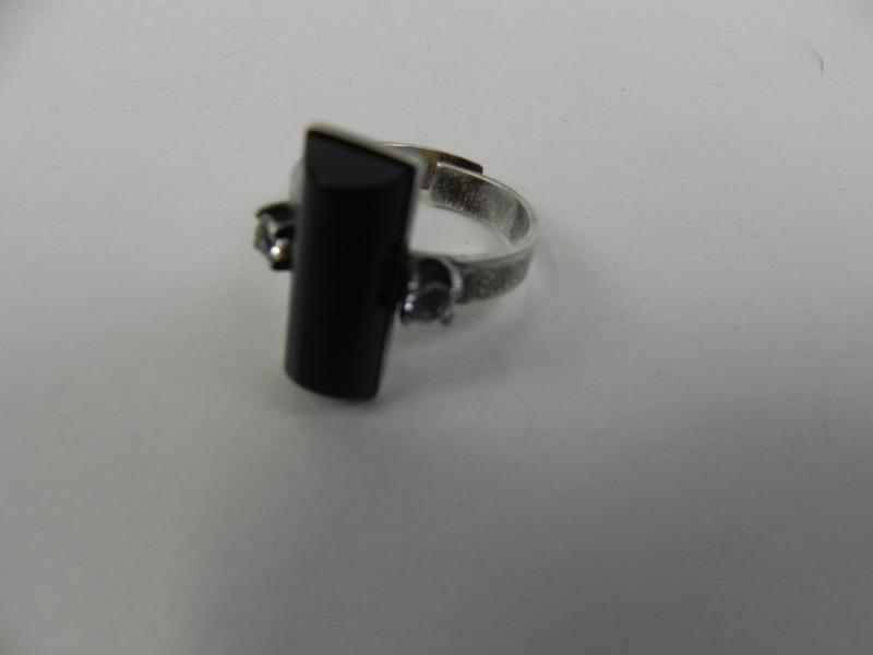 Modernistische ring met onyx steen, Elis Kauppi Finland '70