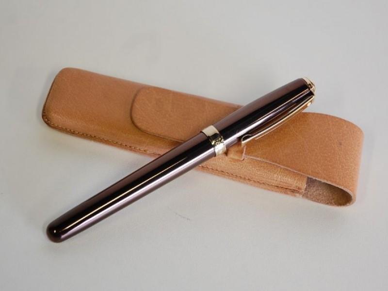 Mooie pen Shaeffers in lederen etui