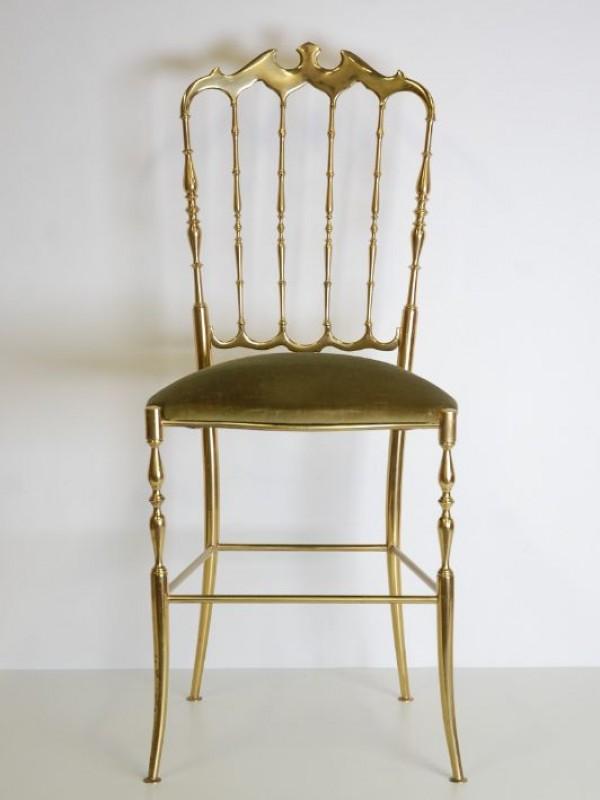 Klassieke, zware stoel - koper