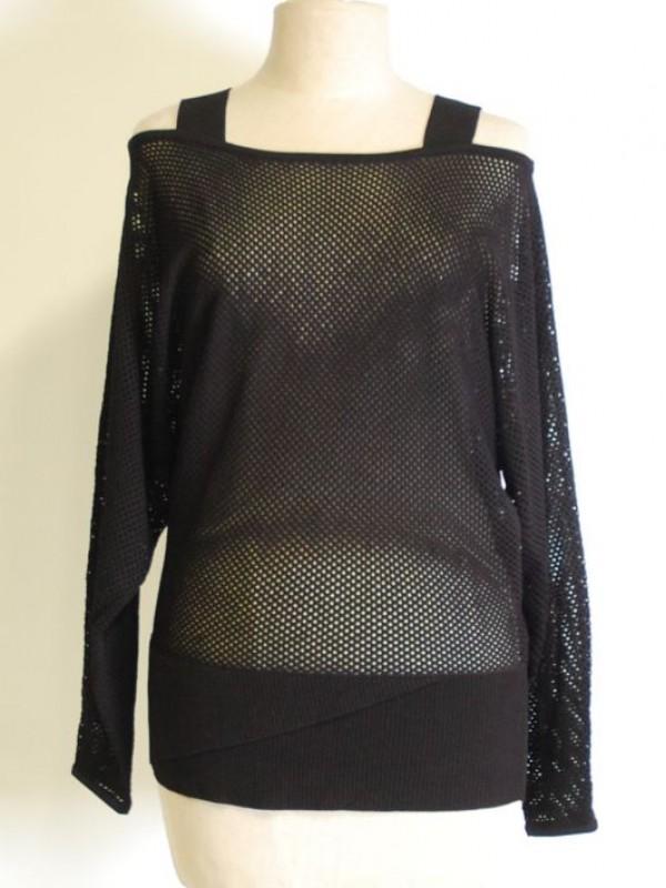 Mooie zwarte top, gemerkt Kendal + Kylie