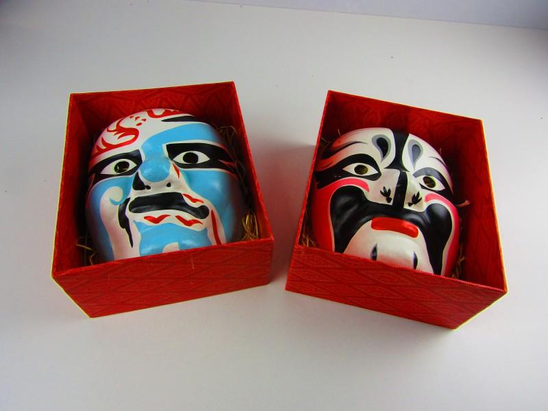 2 Maskers, Japans, 'Noh en Kabuki' Theater Stijl
