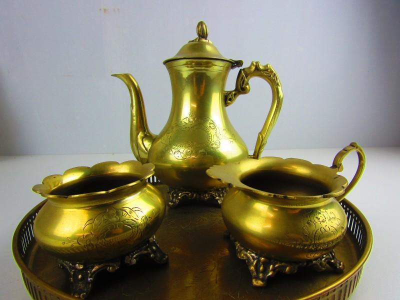 Koperkleurig Koffie/Thee Set