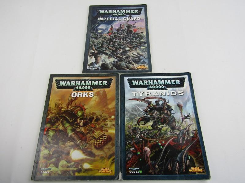 3 Warhammer 40,000 Boeken: Orks, Imperial Guard en Tyranids