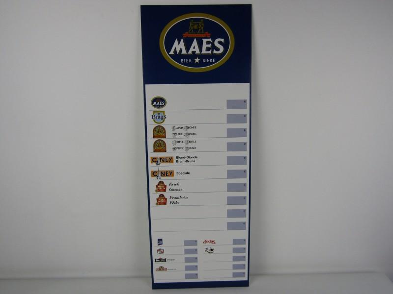 Prijslijst: Maes Bier