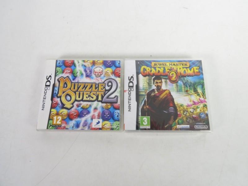 Set van 2 Nintendo spelletjes - Juwel master & puzzlequest 2