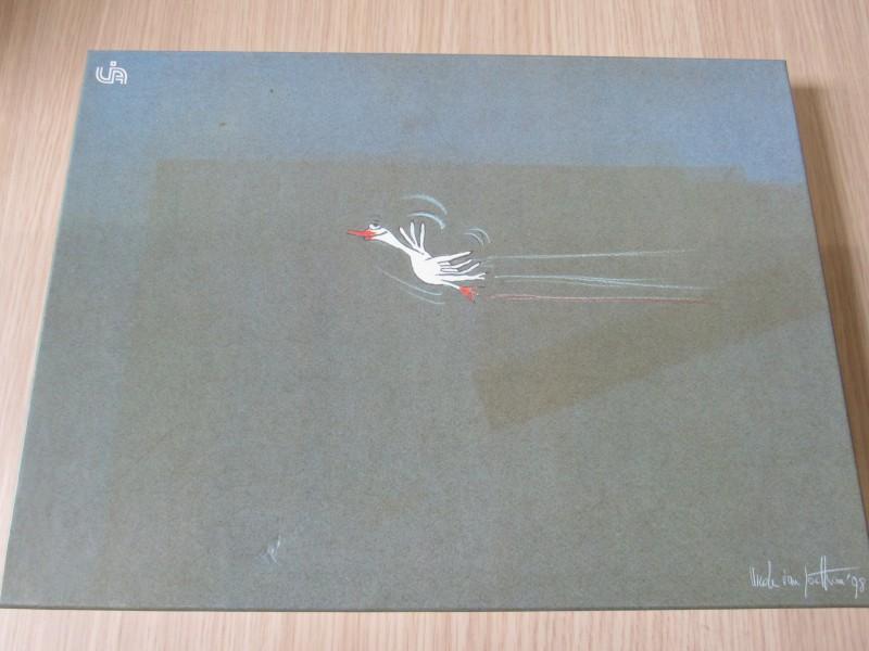 Nicole Van Goethem - Ganzenspel UIA met tekeningen 98'
