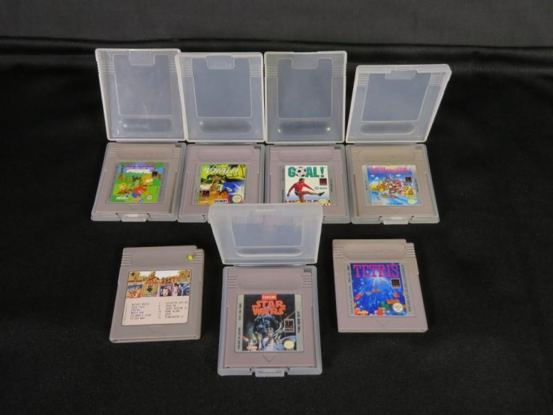 7 vintage game boy spelletjes