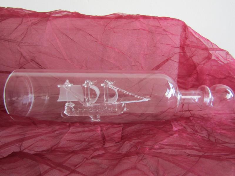 Glazen Zeilschip in Fles