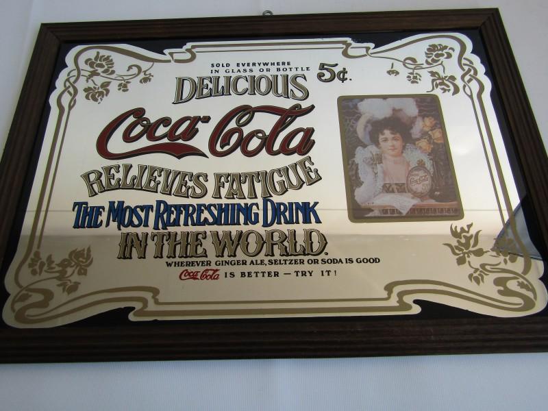 Vintage Coca - Cola Spiegel