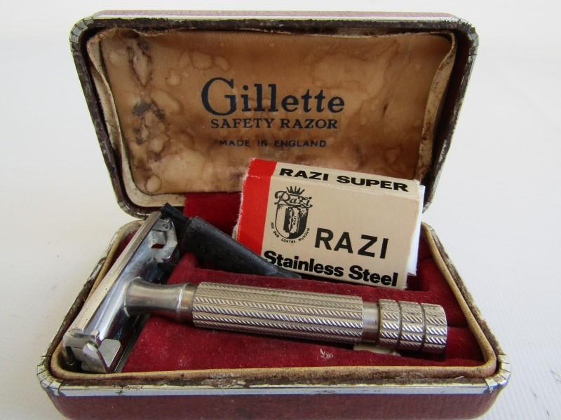 Retro Gillette Safety Razor: Made in England