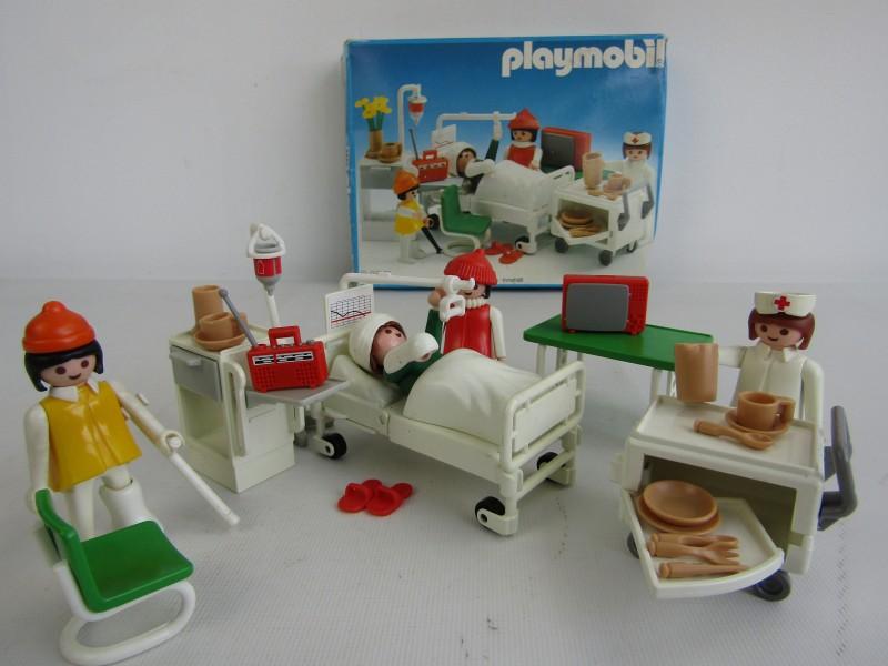 Vintage Playmobil System: Nr. 3495, Ziekenhuiskamer ©1985