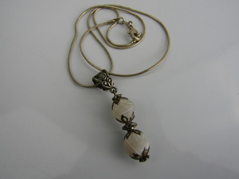 Zilveren 925 Halsketting met Kralenhangertje