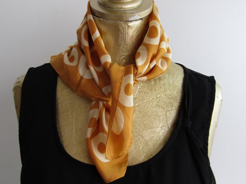 100% zijde Vintage Sjaal: Jago, Made in Italy