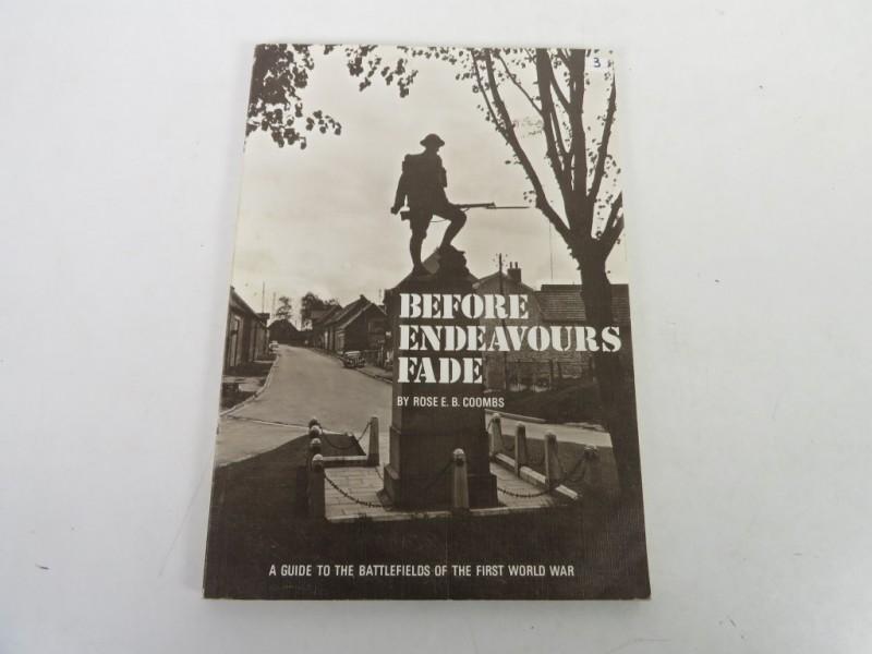 Boek - Before endeavours fade
