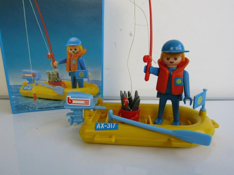 Vintage Playmobil: Visser met Rubberboot Nr. 3574, 1979