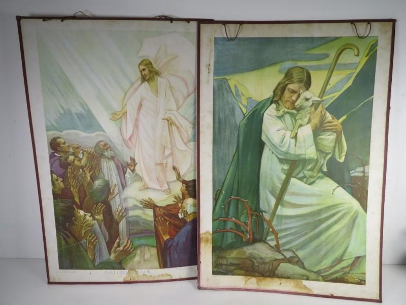 Set van 2 schoolplaten