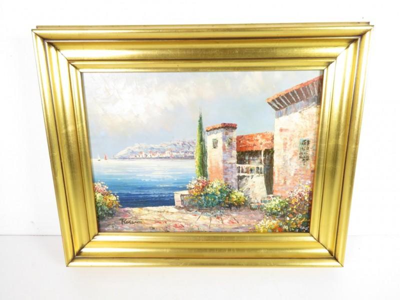 Schilderij Spaans huis gemerkt Rossini