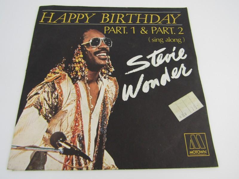 Single, Stevie Wonder: Happy Birthday Part. 1 & Part. 2 (Sing Along), 1980