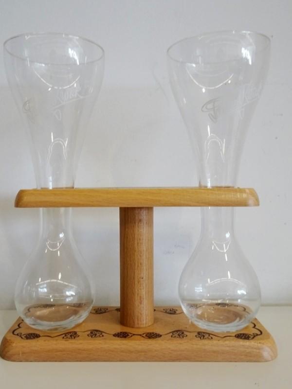 dubbel kwak glas