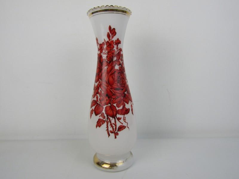Vintage Vaas: Opaalglas ( Wit)
