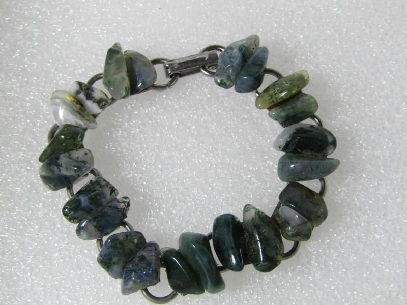 Armband: Blauw Groene Edelstenen