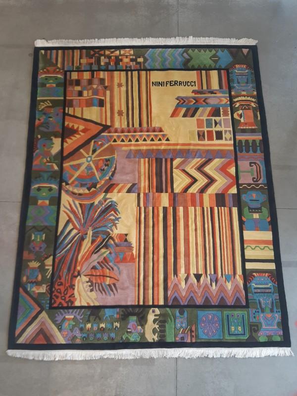 Handgeknoopt Aztec Tapijt Nini Ferrucci
