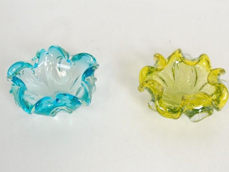 2 x  Murano glas asbak - Jaren '60