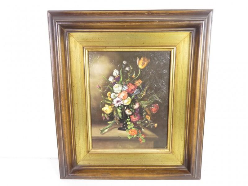 Schilderij met bloemenruiker